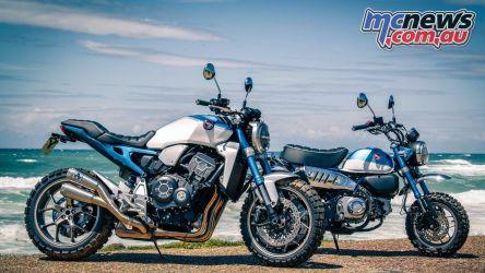 Wheels Waves Honda Blue Monkey and Honda Monkey R
