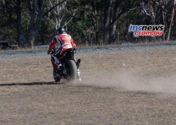 ASBK Rnd Morgan Park RbMotoLens SBK Race Mark Chiodo run off