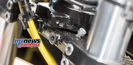 ASBK Rnd Morgan Park RbMotoLens SBKM Race Alexander PICKETT Broken Steering Lock