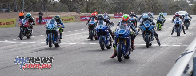 ASBK Rnd Morgan Park RbMotoLens SS Race Start