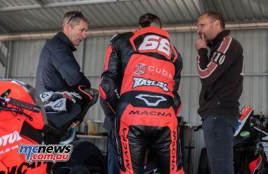 ASBK Winton Test RMimage Troy BAYLISS Oli BAYLISS Glen Richards