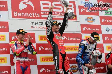 British Superbike BSB Rnd Thruxton Josh Brookes podium