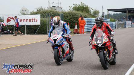British Superbike BSB Rnd Thruxton Redding Hickman AROA