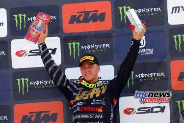 MXGP Rnd Belgium Pirelli MX EMX VanDeMossdijk podium