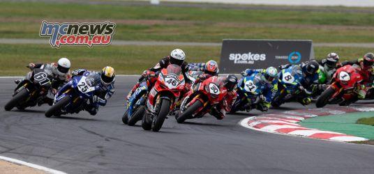 ASBK Rnd Winton SBK Race Start TBG