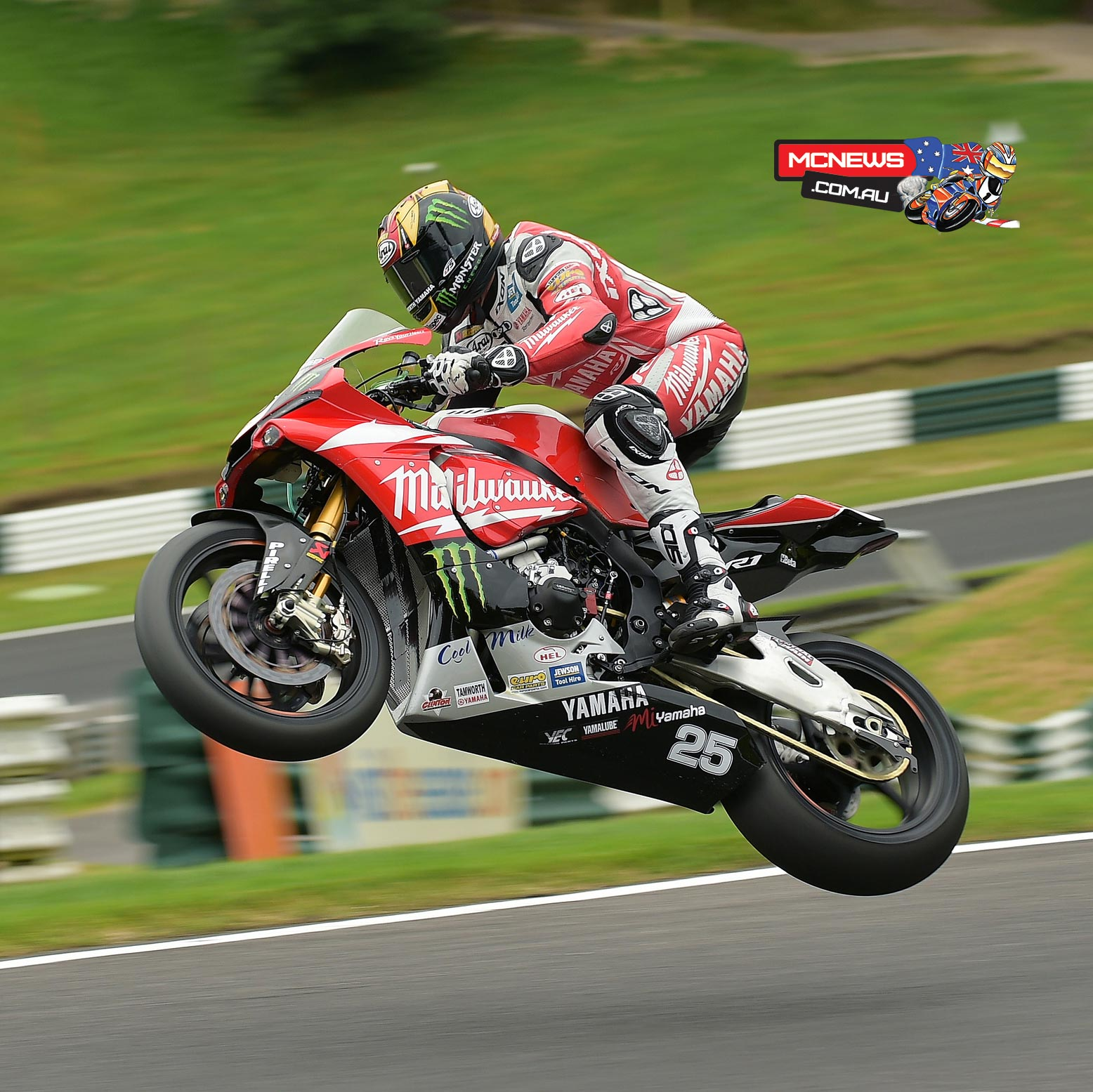 Josh Brookes at Cadwell Park 2015 Test