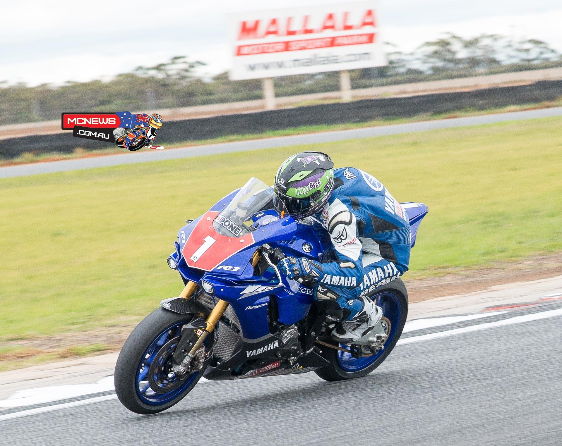 Wayne Maxwell at Mallala Motorsports Park this morning