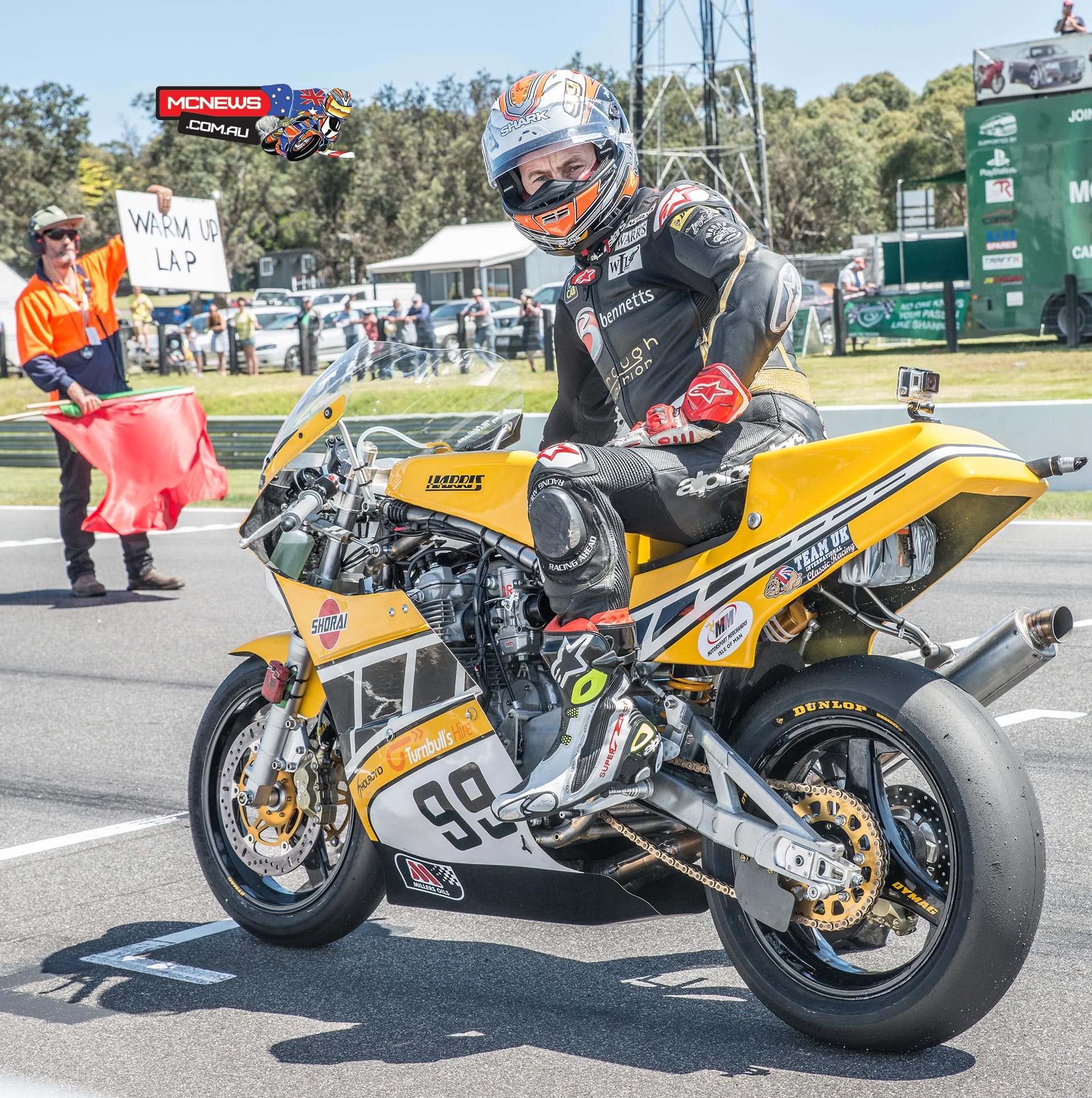 Jeremy McWilliams on the grid at the 2015 Island Classic