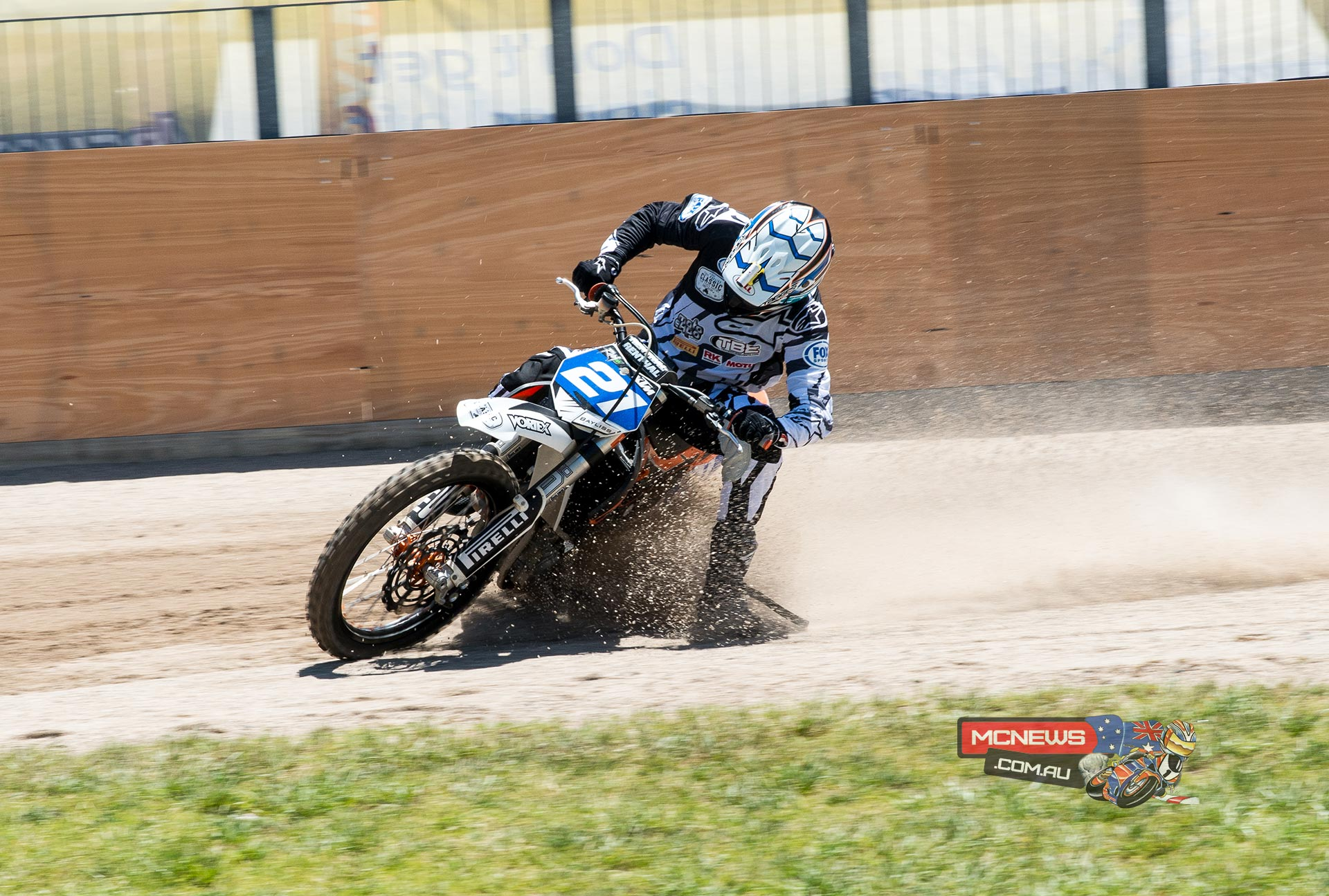 Troy Bayliss in action at Moto Expo Melbourne