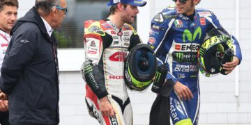 Valentino Rossi and Cal Crutchlow at Brno
