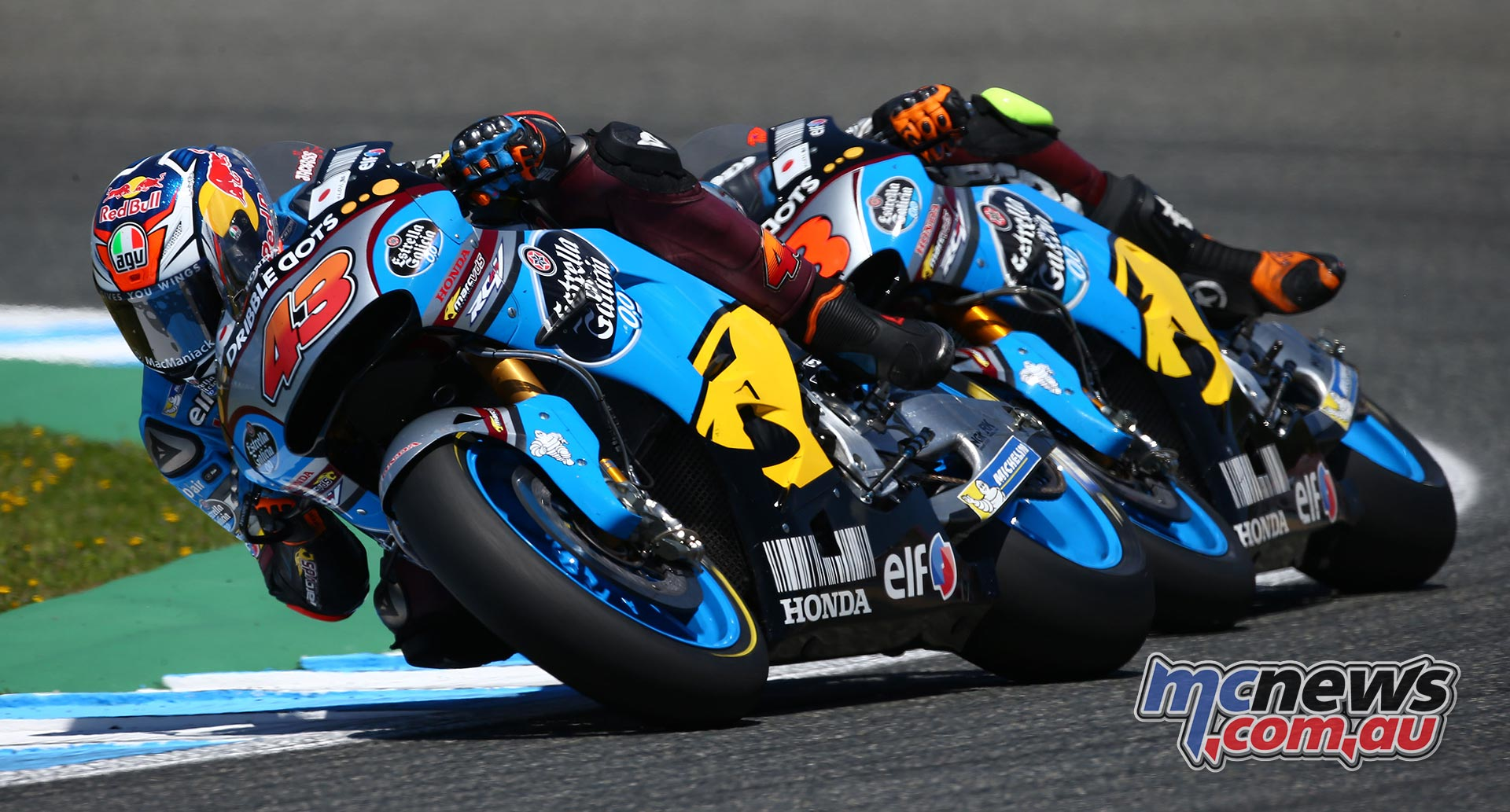 Jack Miller and Tito Rabat in action at Jerez 2016