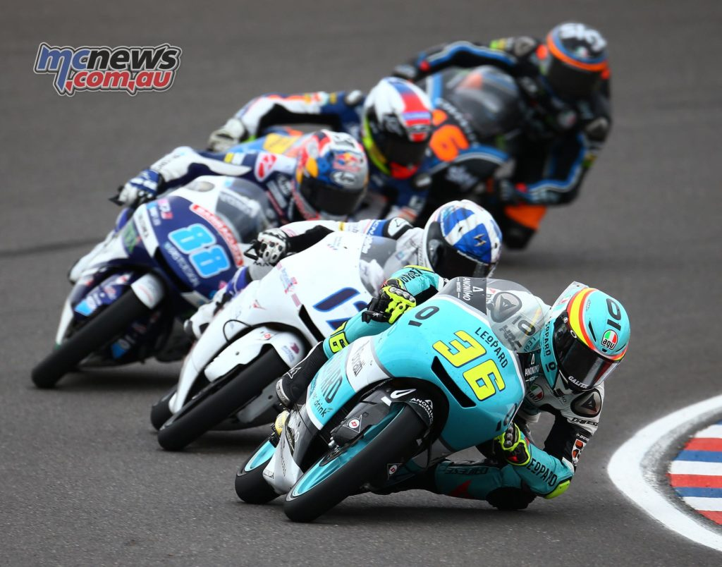 John Mir leads the Moto3 field in Argentina