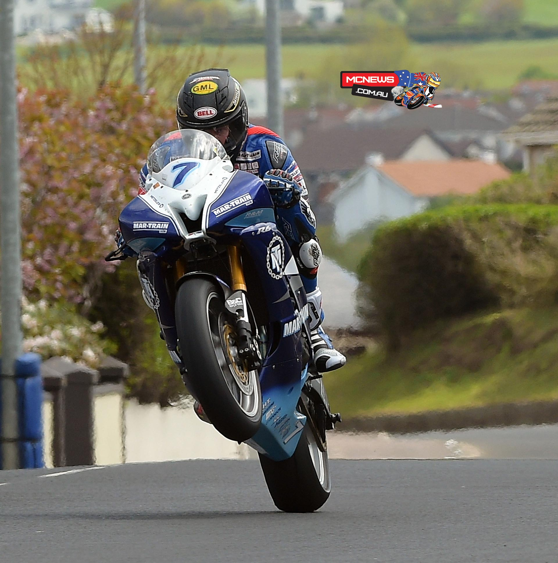 Gary Johnson topped Supersport on Thursday - Pic here shows Gary at the NW200