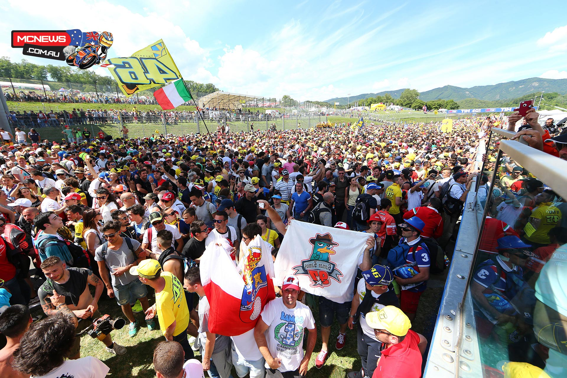 MotoGP 2014 Mugello - Always a huge crowd at the Italian MotoGP
